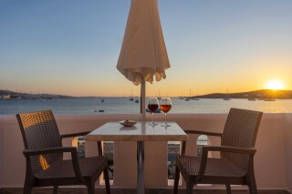gallery irene hotel paros sunset view