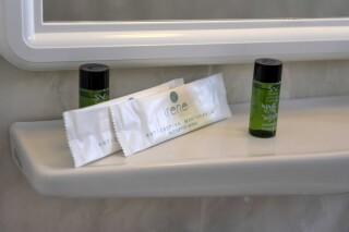 rooms irene hotel paros bathroom products