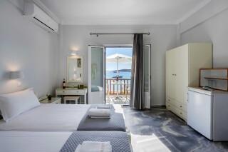 rooms irene hotel paros sea view bedroom