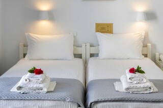 rooms irene hotel paros two beds